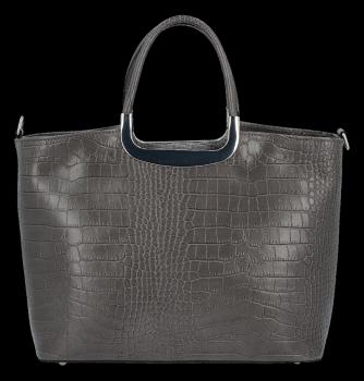 Elegantné kožené puzdro v štýle aligátora Vittoria Gotti vyrobené v Taliansku sivé