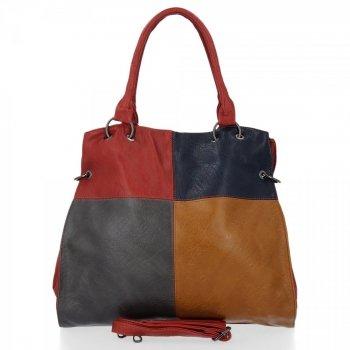 Modna Torebka Damska Grace Bags Shopper Czerwona