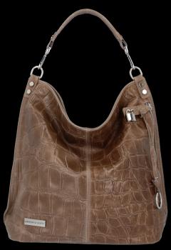 Univerzálna Kožená taška Vittoria Gotti s módnou korytnačkou
