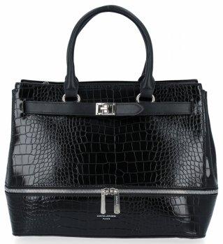 Elegantná dámska taška so zvieracím vzorom David Jones čierny