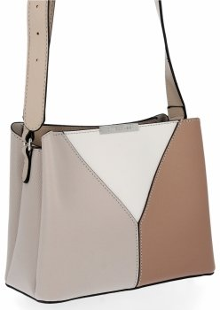 Elegantná dámska taška s priehradkami 3 David Jones Beige