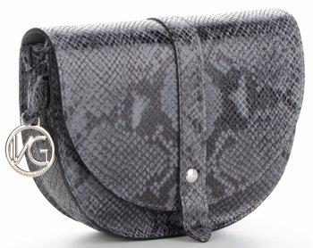Talianska kožená poštárska taška v hada tému od Vittoria Gotti Grey