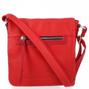 Univerzálna dámska taška je ideálna pre každodenné nosenie David Jones červený