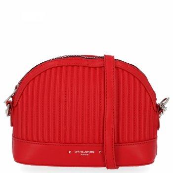 Štýlová dámska taška David Jones červený