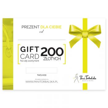 Darčeková karta v hodnote 200 PLN.