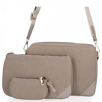 Univerzálne dámske tašky od Herisson svetlo šedá