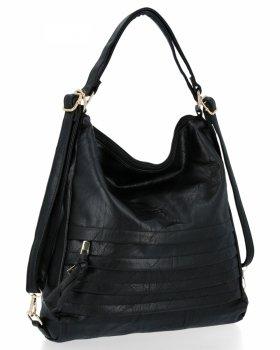 BEE BAG je univerzálna dámska taška s funkciou batohu Judite čierny