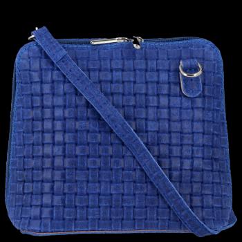 Malá talianska Kožená taška z pravej kobaltovej kože