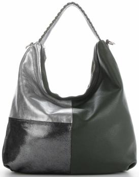 Talianska univerzálna Kožená taška veľkosti XL s módnym dizajnom Zelená