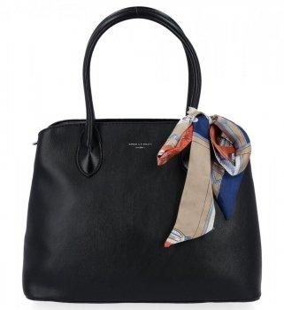 Módna dámska taška s šatkou na krk David Jones čierny
