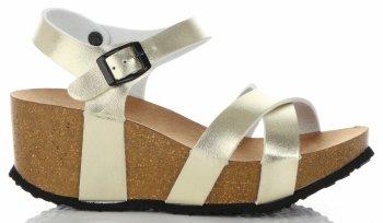 Štýlové dámske klinové topánky z ideálnej obuvi zlotý