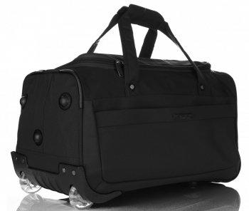 Cestovná taška Snowball na kolieskach so stojanom Čierna
