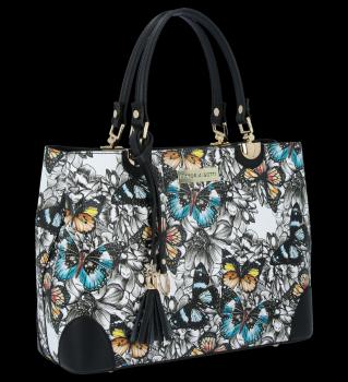 Vittoria Gotti módna kožená taška elegantné puzdro vyrobené v Taliansku v čiernej farbe