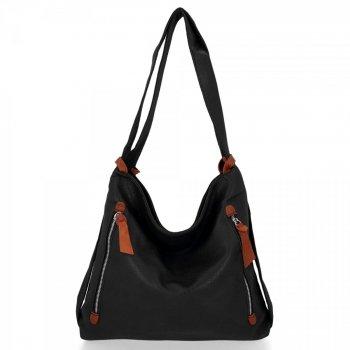 Bee Bag univerzálna dámska XL taška s funkciou Layla čierneho batohu