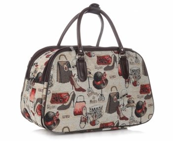 Mała Torba Podróżna Kuferek Or&Mi Fashion Multikolor - Beżowa