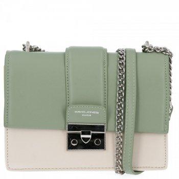 Elegantné dámske tašky Messenger David Jones Béžová / Zelená