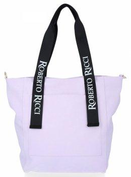Univerzálna dámska taška Móda Shopperbag Veľkosť XL svetlo fialová