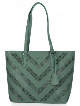 Módne klasické dámske tašky David Jones zelený