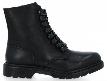 Čierne dámske členkové topánky s reťazami Luna