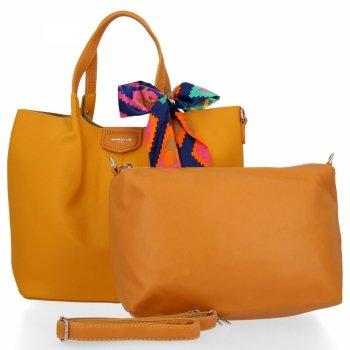 David Jones Dámske XL Shopper taška s žltá taška