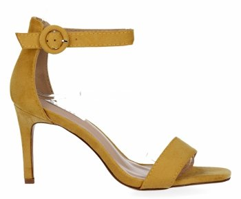 Žlté Dámske sandále s vysokým podpätkom Bellucci
