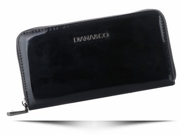 Elegantná dámska kabelka z lakovanej kože Diana & Co Firenze Typ Peračníka Čierna