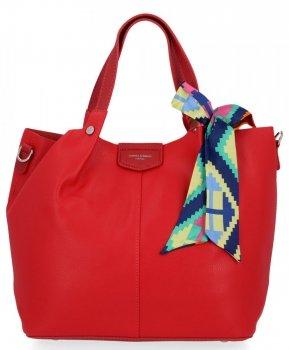 David Jones Dámske XL Shopper taška s červenou taškou