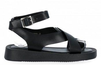 Čierne dámske sandále od spoločnosti Givana