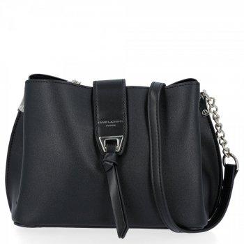 Elegantná dámska taška messenger 3 priehradky od David Jones čierny