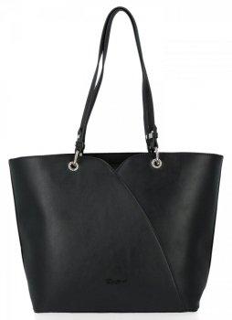 Klasická dámska XL taška David Jones Čierna