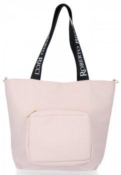 Roberto Ricci Značkové dámske nákupné tašky veľkosť XL prášok Ružová