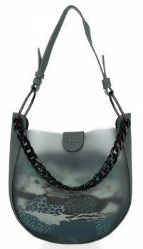 David Jones módna dámska taška s kozmetickou taškou Zelená