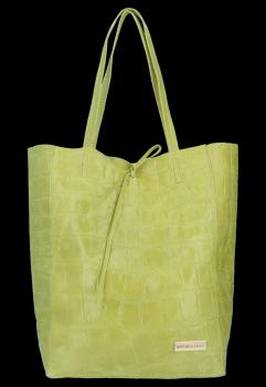 Vittoria Gotti taliansky Kupujúci XL univerzálna ležérna Kožená taška s módnym korytnačím vápnom