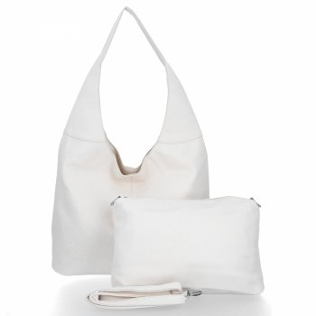 BEE Bag univerzálne Dámske tašky 2v1 Shopper s Lena-poštár svetlo béžová