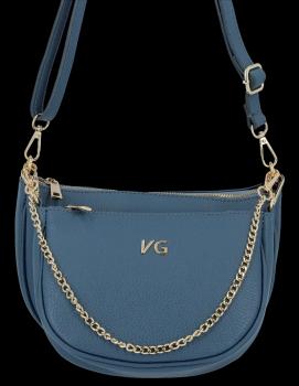 Módne kožené crossbody tašky 2 v 1 od Vittoria Gotti vyrobené v Taliansku modrej