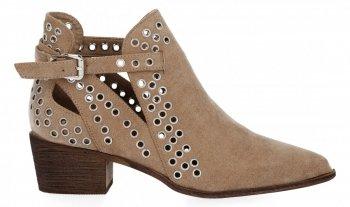 Béžové Dámske kotníkové topánky s podpätkami Bellucci