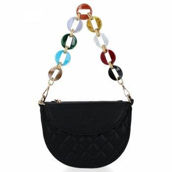 Elegantná Dámska prešívaná taška Herisson čierny