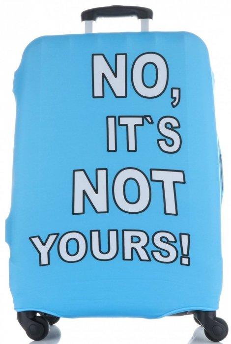 Obal na kufr Snowball L size No its not yours světle modrá