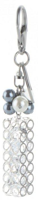 Přívěšek ke kabelce Glamour Tube s křišťálky stříbrný