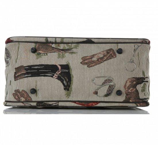 STŘEDNÍ cestovní taška kufřík Or&Mi Horse Multicolor - béžová