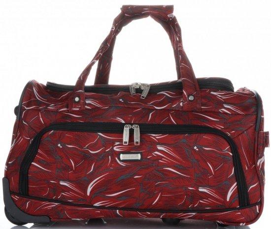 Cestovní taška na kolečkách s teleskopickou rukojetí renomované firmy Madisson Multicolor - červená