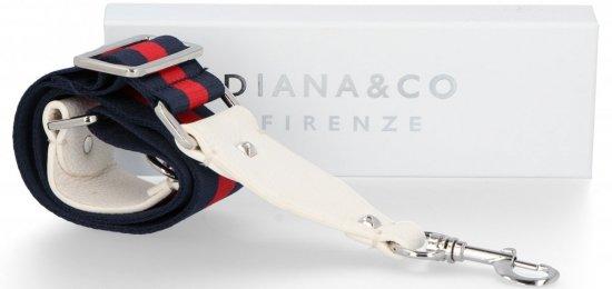 Popruh pro dámské kabelky Diana&Co Multicolor Bílý