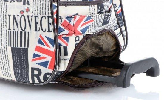 Cestovní taška na kolečkách s výsuvnou rukojetí Anglie Or&Mi multicolor hnědá
