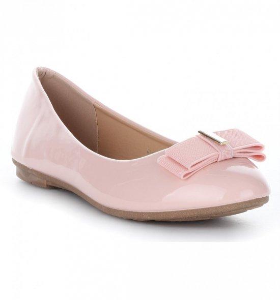 Elegantní Dámské baleríny Bellucci lakované Růžové