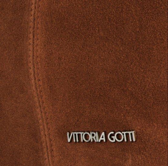 Kožená Kabelka Shopper Vittoria Gotti Made in Italy Hnědá