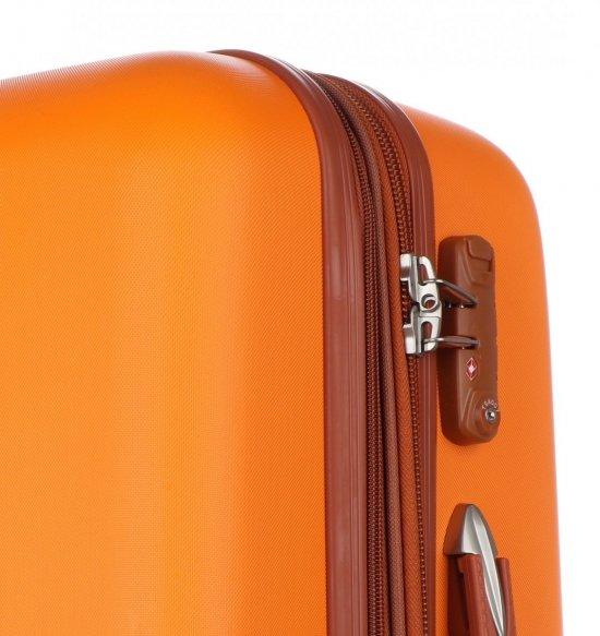 Kufry renomované firmy Snowball Sada 3v1 oranžové