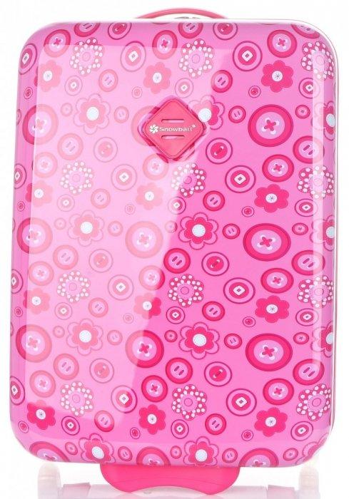 Módní Palubní kufřík s motivem květin Snowball růžová