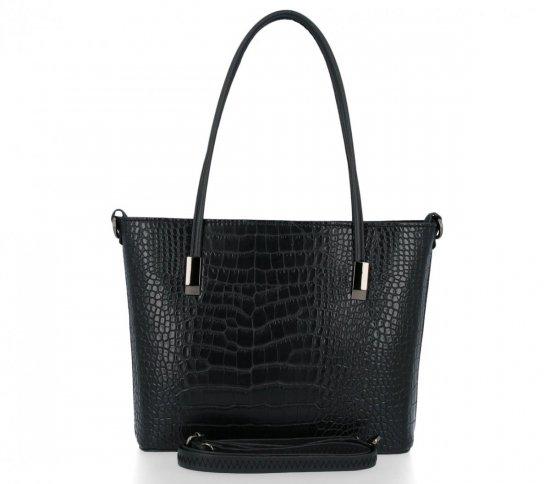 BEE BAG Dámské Kabelky Lidia s motivem aligátora velikost M Černá