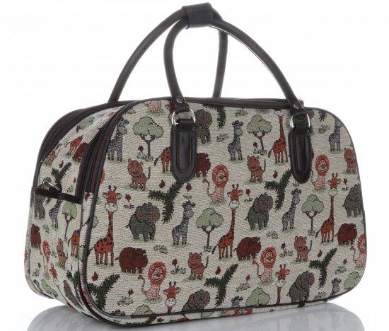 STŘEDNÍ cestovní taška kufřík Or&Mi Zoo Multicolor - béžová