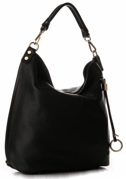 e224d80b90d Univerzální kožená kabelka VITTORIA GOTTI Made in Italy XL Černá ...